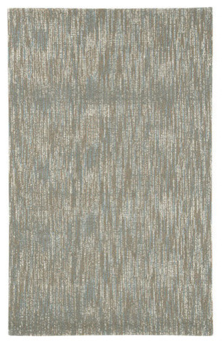 R400761 Arielo Large Rug Blue Ivory Contemporary Area Rugs