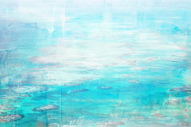 """""""white Surf"""" Painting Print On Wrapped Canvas, 60""""x40""""."""