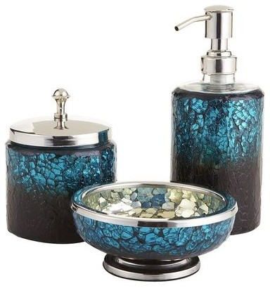 Delicieux Peacock Mosaic Bath Accessories