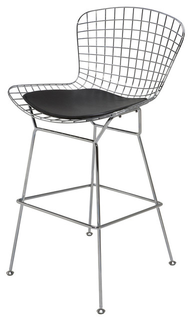 wire back barstool black contemporary bar stools and
