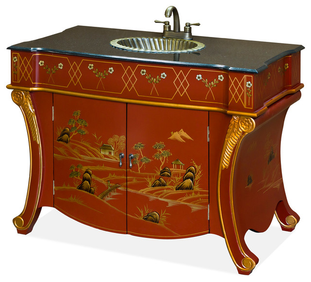 French Style Vanity Cabinet Asian Bathroom Vanities And Sink Consoles