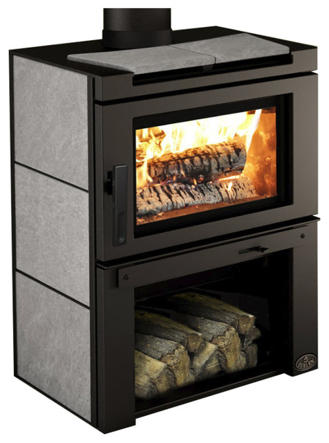 Osburn Matrix Wood Burning Stove With Soap Stone Side Panels & Blower.