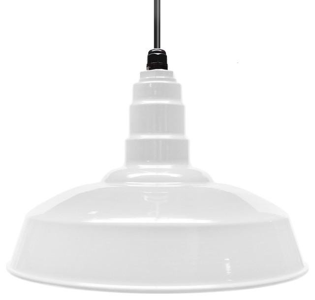 16 Standard Steel Warehouse Style Pendant Light