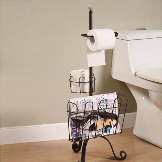 Metal Toilet Paper Amp Magazine Holder Eclectic Toilet