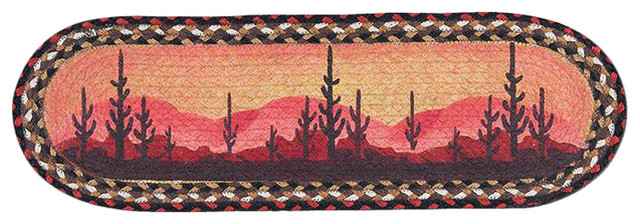 St-Desert Sunset Oval Stair Tread 27x8.25 by Earth Rugs