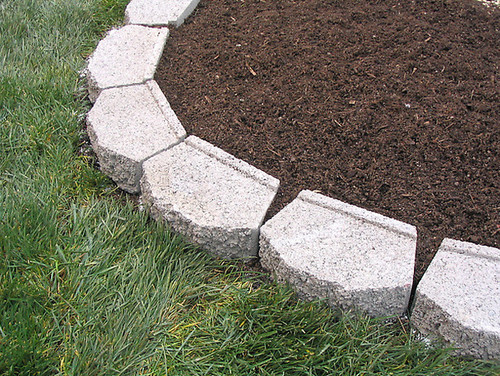 Edging Flower Bed With Concrete Blocks