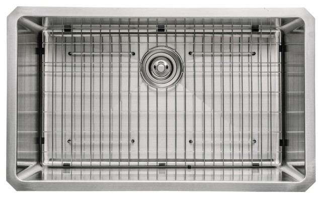 30 In. Undermount Single Bowl Stainless Steel Kitchen Sink.