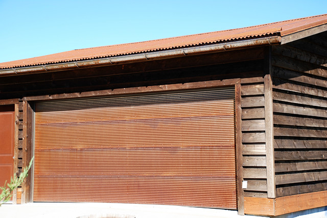 Rusted Steel Rustic Shed