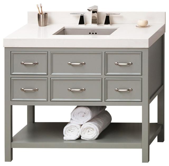 Cape Cod Bathroom Vanity And Mirror White 42 Modern Home Interior