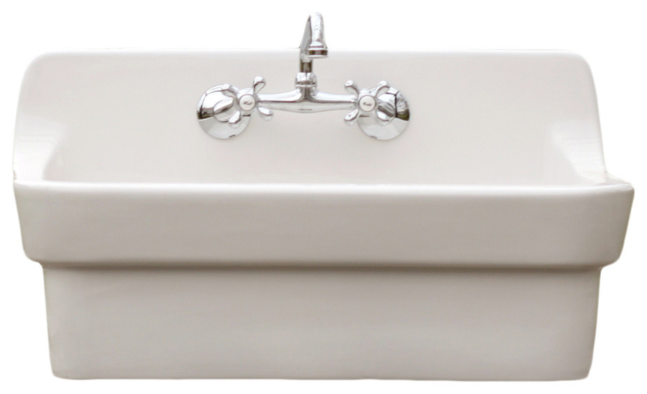 Red Earth New Antique Inspired 30 High, Double Porcelain Bathroom Sink