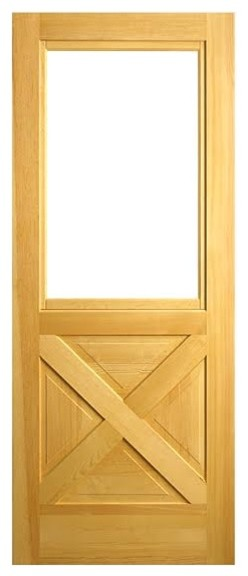 Combination door company colonial pine door with b sash for Door and screen door combo