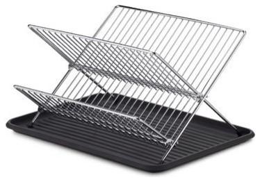 Folding Dish Rack And Drain Board Set Contemporary