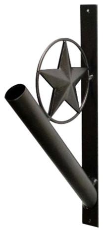 "Iron Flag Pole Holder, Star Design, 13"""