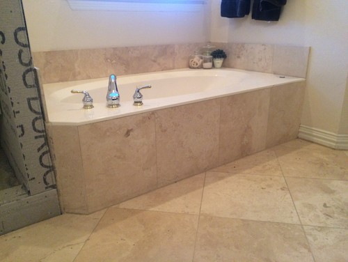 need to retile master bath and replace bath shower and sink fixtures for an updated look