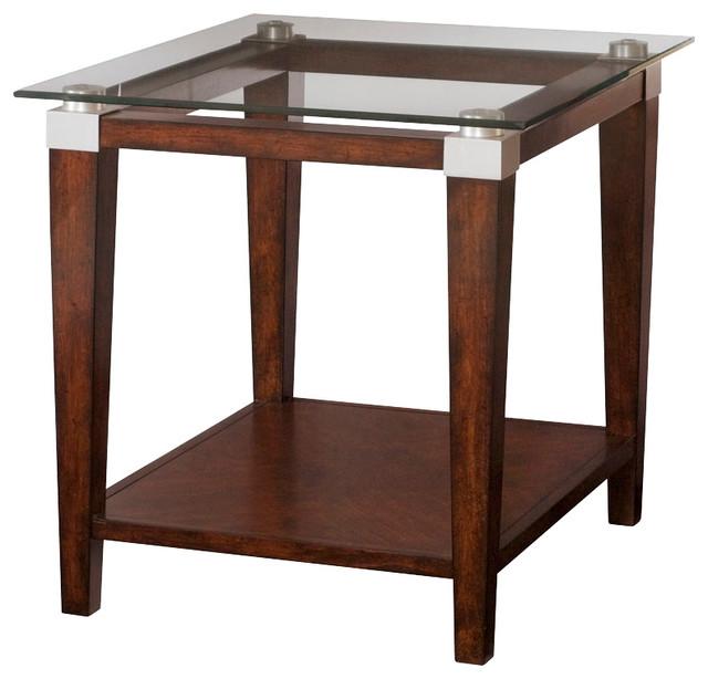 Superieur Solitaire Rectangular Rich Dark Brown End Table, 247 915