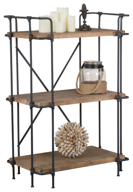 Denise Austin Brooklyn Bookcase Industrial Bookcases