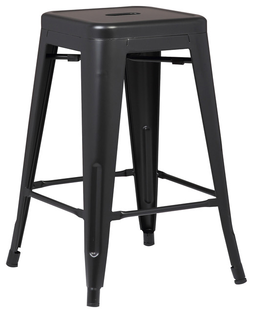 Trattoria 24 Counter Height Stool Black Set Of 2 Industrial