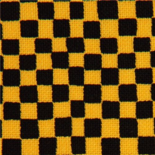black-yellow checker fabric by Timeless Treasures USA - Fabric - by ...