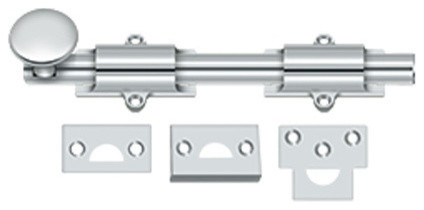 8sb26 8 Surface Bolt, Hd, Bright Chrome.