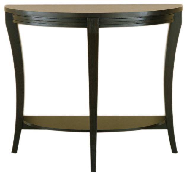 Furniture of america hidalgo cappuccino half moon sofa for Furniture of america sofa table