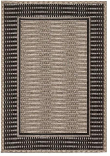 Couristan Tides Astoria Rug Black Grey Outdoor Rugs
