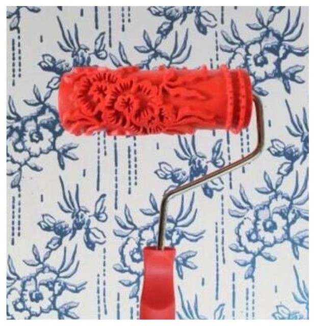 Embossed Paint Roller Wall Painting Runner Wall Decor Diy Tool, Pattern 26.