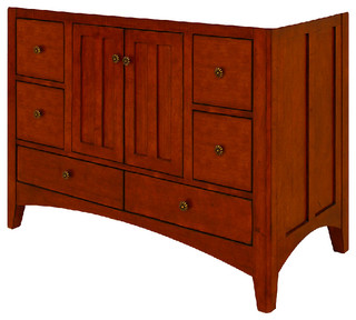 Expressions Assembled Vanity With 2-Doors and 1-Bottom Drawer, 48""