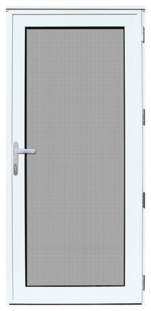 36 x80 white recessed aluminum meshtec security storm door contemporary screen doors by - Meshtec screen door ...