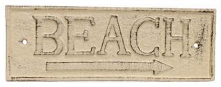 Door Decor Nautical Theme Aged White Cast Iron Poop Deck Sign 6