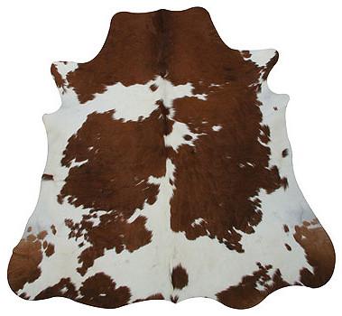 Brown Amp White Cowhide Rug