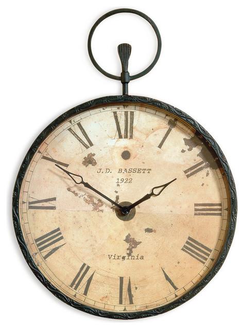 Bassett Mirror Old World Papas Antique Bronze Pocket Watch Wall
