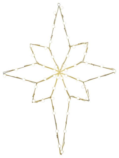 "48""x36"" Bethlehem Star C7 Wire Motif, Multicolored."