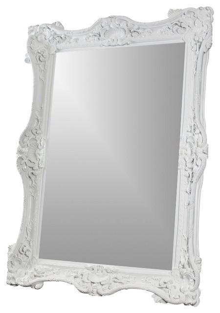 White Wall Mirror white baroque 7' mirror - victorian - wall mirrors -diva