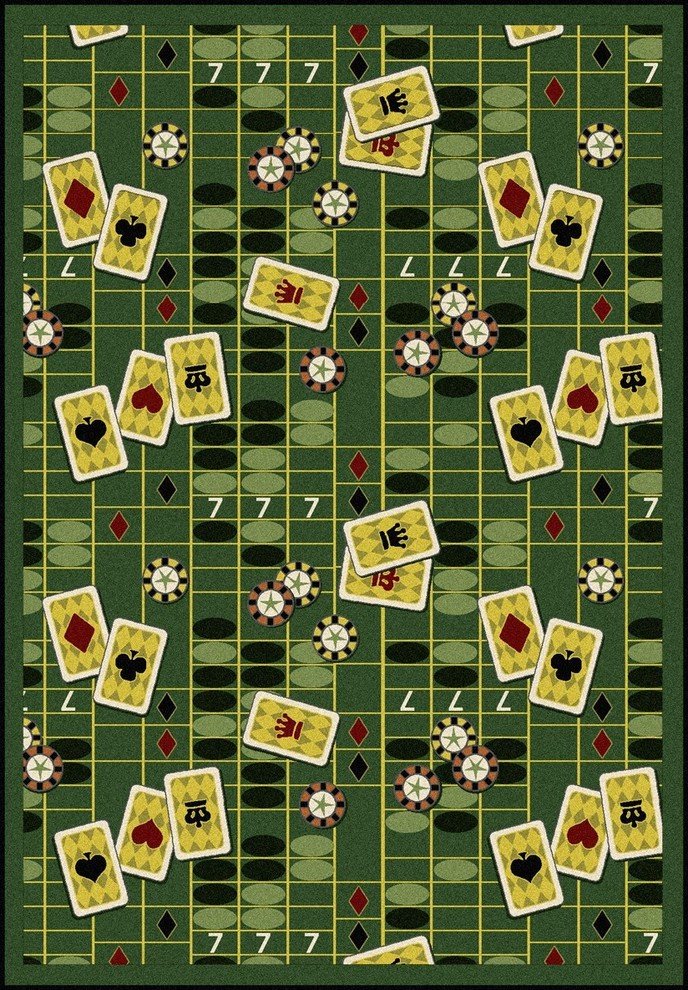 Games People Play Gaming Sports Area Rugs Feeling Lucky Rug Contemporary Area Rugs By Uber Bazaar