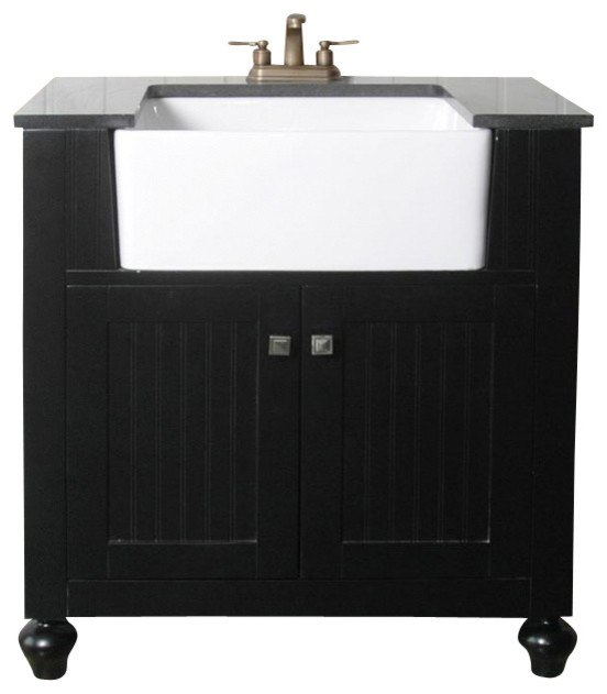 30 inch transitional single sink bathroom vanity - traditional