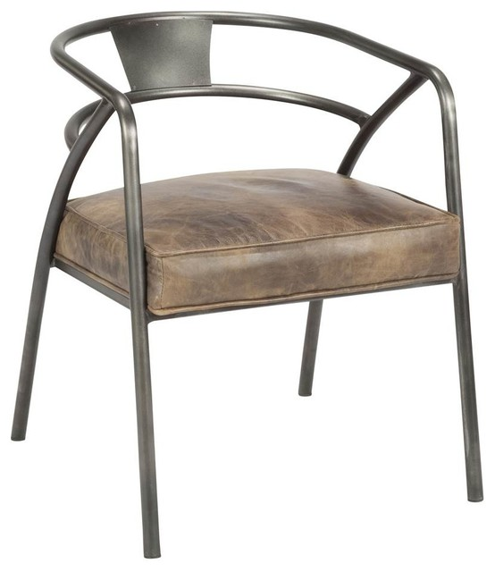 Club Chair With Metal Frame - Industrial - Armchairs And ...