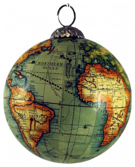 Old world map globe hanging christmas tree ornament geography old world map globe hanging christmas tree ornament geography history xmas gumiabroncs Image collections
