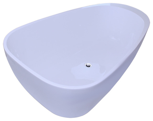 "67"" Bathroom White Color Freestanding Acrylic Bathtub."