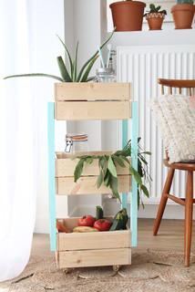 desserte avec des caisses ikea paris par mademoiselle claudine. Black Bedroom Furniture Sets. Home Design Ideas