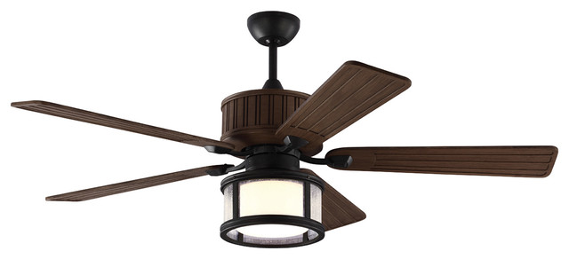 Monte Carlo Fans 54in Tillbury Ceiling Fan, Weathered Zinc.