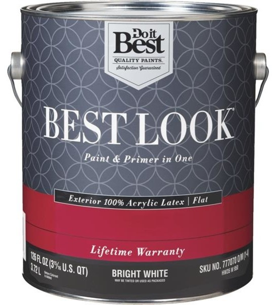 Best Look 100 Acrylic Latex Paint And Primer In 1 Flat Exterior House Paint Paint By Hipp