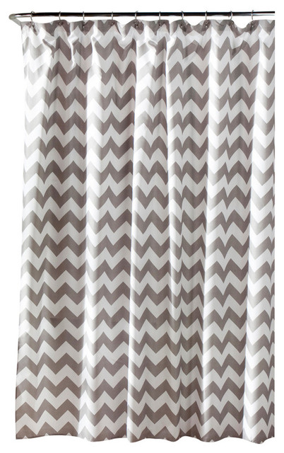 Chevron Shower Curtain Gray and White - Shower Curtains - by Lush ...
