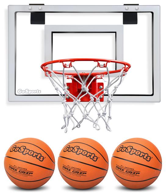 Basketball Door Hoop With 3 Premium Basketballs and Pump, Standard Size
