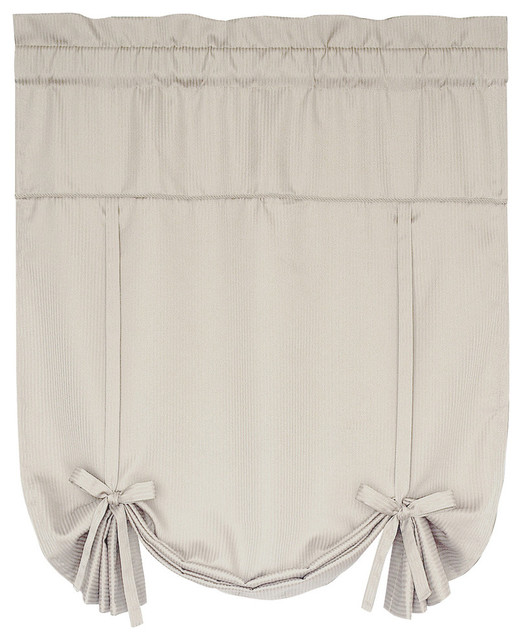 United Curtain Co. Metro 40x63 Tie Up Shade, Oyster.