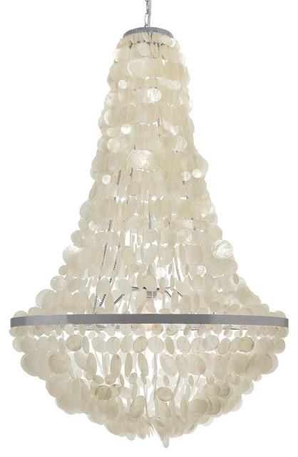 Kouboo manor capiz chandelier reviews houzz manor capiz chandelier beach style chandeliers mozeypictures Image collections