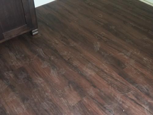 Prints Left On Luxury Vinyl Plank Floors