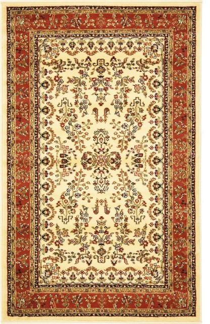 Safavieh Lyndhurst Lnh331r Ivory Rust Rug Traditional Area Rugs By Plushrugs