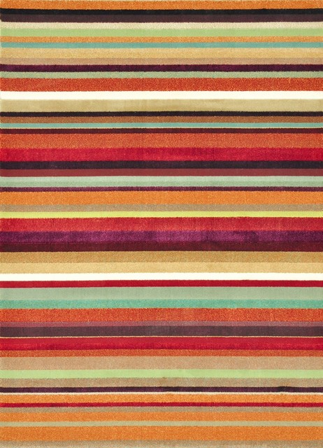 9:00 the rug company striped woven throw