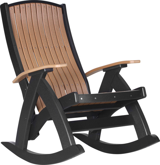 Poly Comfort Porch Rocking Chair Traditional Outdoor Rocking Chairs By