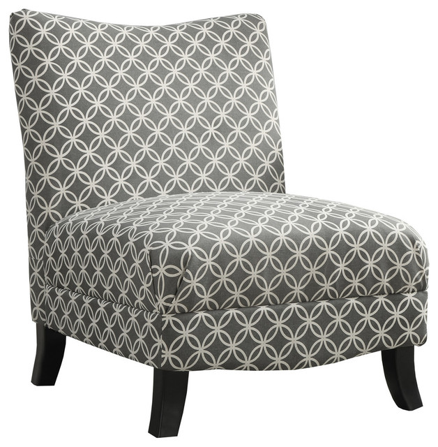 Superior Accent Chair, Gray Circular Fabric Transitional Armchairs And Accent Chairs